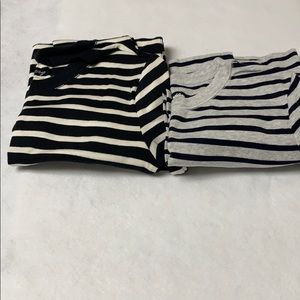 Two (2) GAP The Bowery striped long sleeve Tops